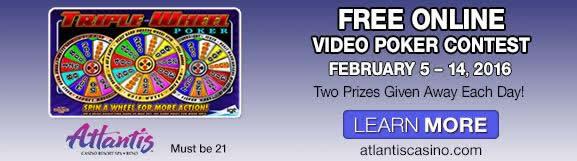 Atlantis casino online video poker contest double super pay non donloads non gambling internet games