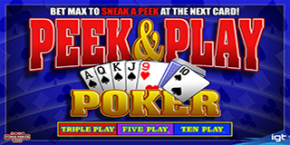 Peek and Play Poker