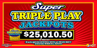 Super Triple Play Jackpots