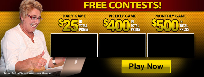 Today's free video poker contests