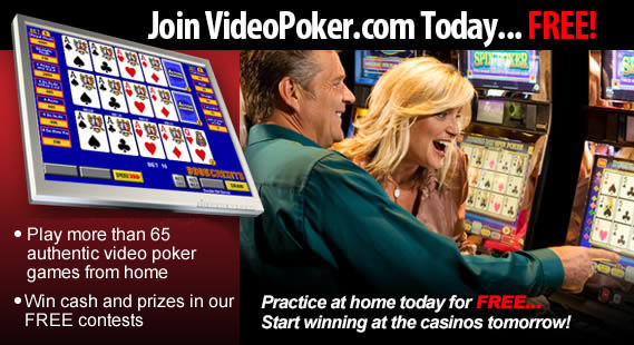 Play free authentic video poker games