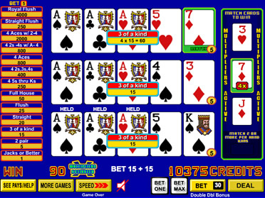 100 play video poker