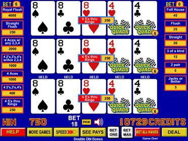 video poker quick quads