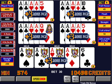 ultimate 4 of a kind video poker