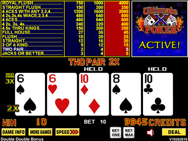 play ultimate x poker online